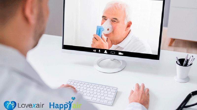 rehabilitación online con pacientes respiratorios